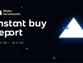InstantBuy weekly report: 09.11.20 – 15.11.20